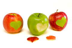 Three apples Stock Images