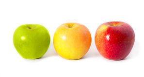Three apples Stock Image