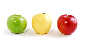 Three Apples Stock Photo