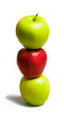 Three Apples Royalty Free Stock Photography