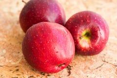 Three apples close up Stock Photos