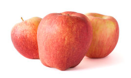 Three apples isolated on white background Royalty Free Stock Image