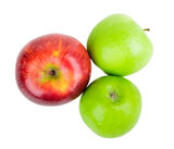 Three apples red green Stock Image