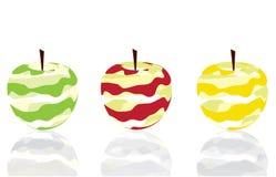 Three apples skin Stock Photos