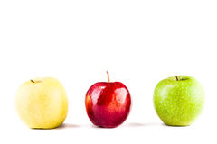 Three apples Stock Photography