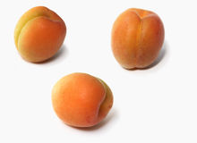 Three apricots Stock Image