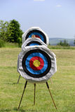 Three archery targets Stock Photos