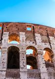 Three Arches in Coloseum. The famous ruins of the ancient Roman Colosseum in Rome, Italy Royalty Free Stock Photos