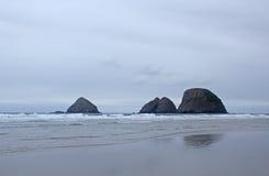Free Three Arches Rocks On Oregon Coast In Winter Royalty Free Stock Photo - 38334915