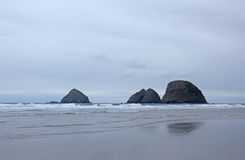 Three Arches Rocks On Oregon Coast In Winter Royalty Free Stock Photo