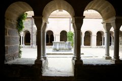 Three archs cloister Stock Image