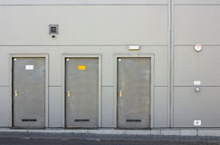 Three armor doors Stock Image