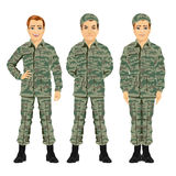 Three army soldiers posing Stock Photo