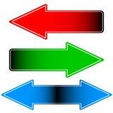 Three arrows Stock Photos