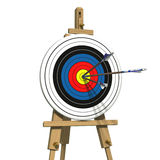 Three arrows on an archery target Royalty Free Stock Images