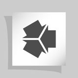 Three arrows facing each other icon Royalty Free Stock Image