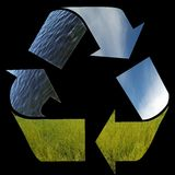 Three arrows of nature elements, recycling symbol. The three arrows of nature elements, recycling symbol Royalty Free Stock Photos