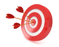 Three arrows in target Stock Photography