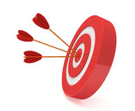 Three arrows in target Royalty Free Stock Image