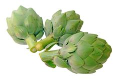 Three artichoke Royalty Free Stock Photos