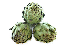 Three artichokes Royalty Free Stock Images