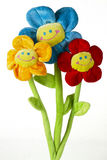Three artificial flowers Stock Images