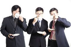 Three Asian business man with coffee break Royalty Free Stock Photography