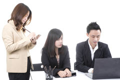 Three asian business Stock Photo