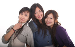 Three Asian girls Stock Photos