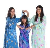 Three Asian Malay Teenage Sisters VI Royalty Free Stock Photo