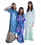 Three Asian Malay Teenage Sisters VIII Stock Photo