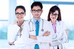 Three asian medical doctors Stock Image