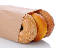 Three Assorted Bagels Royalty Free Stock Photo