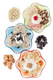 Three assorted flavors of ice cream Stock Image