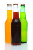 Three Assorted Soda Bottles on White Stock Photography