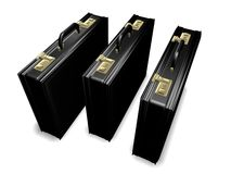 Three Attache Cases Royalty Free Stock Photography