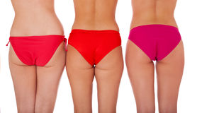 Three attractive female bottoms Stock Image