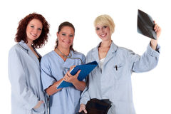Three attractive female doctors Stock Photography