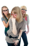 Three attractive girls Stock Images
