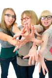Three attractive girls Royalty Free Stock Photography