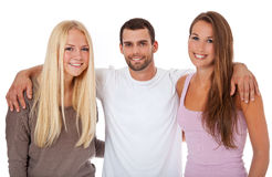 Three attractive students Stock Photography
