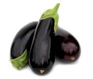 Three aubergine Stock Photography