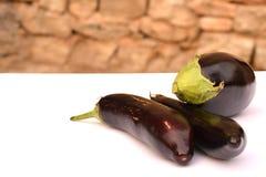 Three aubergines Royalty Free Stock Photo