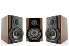 Three audio speakers Royalty Free Stock Image