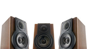 Three audio speakers Stock Photos