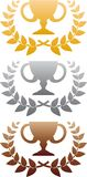 Three awards Royalty Free Stock Images