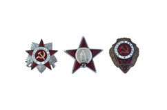 Three awards of the USSR Royalty Free Stock Images