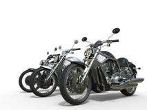 Three awesome motorcycles Stock Image