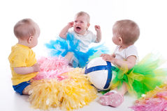 Three Baby Stock Image