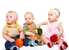 Three baby friends Stock Photo